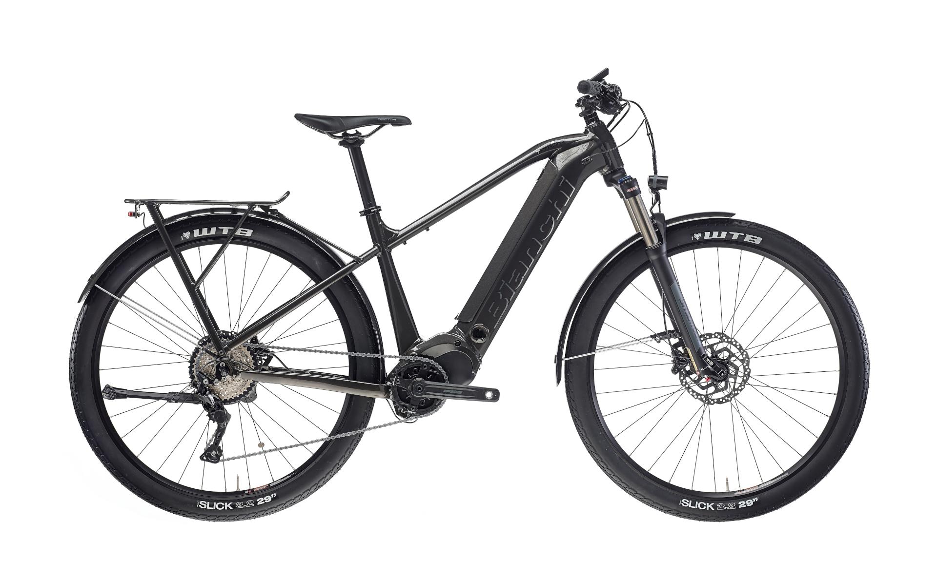 bianchi black electric city hybrid bike